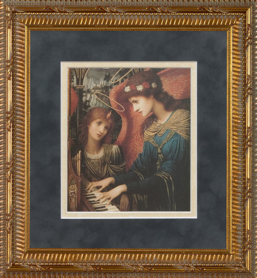 St. Cecilia by Strudwick Matted - Standard Gold Framed Art