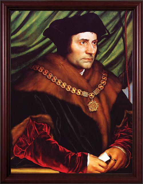 St. Thomas More - Cherry Framed Art