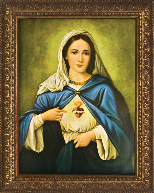 Immaculate Heart - Ornate Gold Framed Art