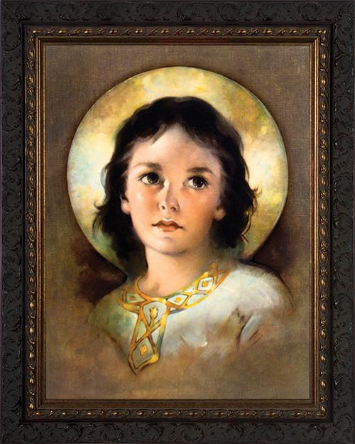 The Christ Child - Ornate Dark Framed Art
