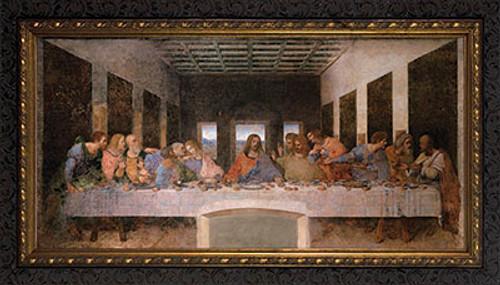 Last Supper by Da Vinci - Ornate Dark Framed Art