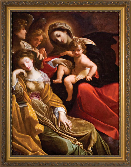 Mystical Marriage of St. Catherine Framed Art