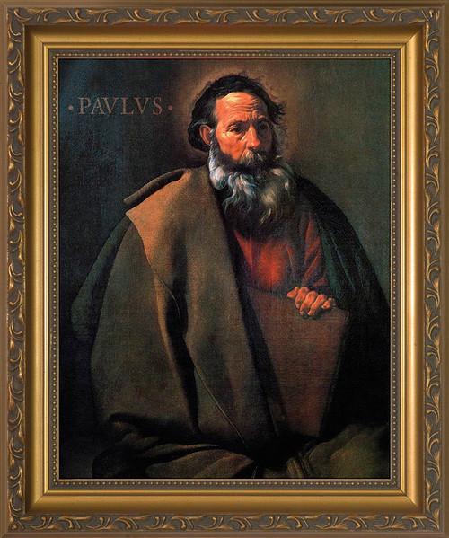 St. Paul by Velazquez - Standard Gold Framed Art