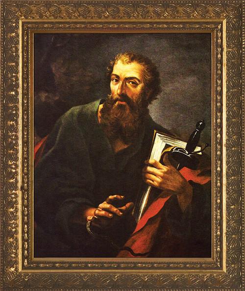 San Paolo e la Vipera Framed Art