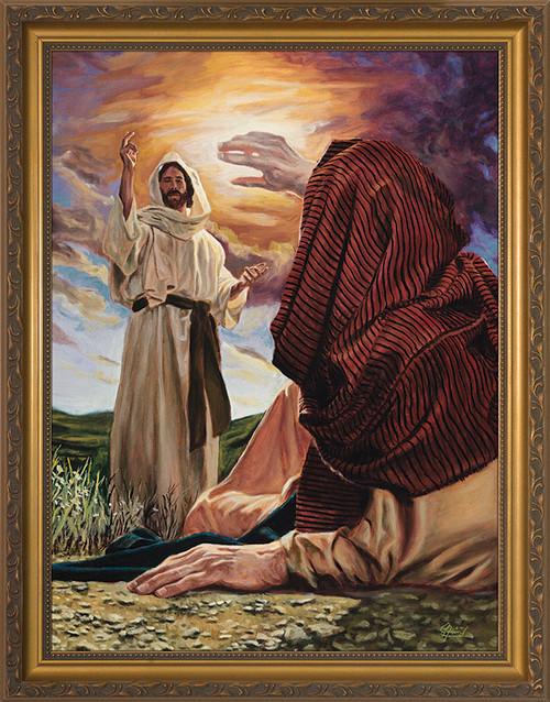 Conversion of St. Paul by Jason Jenicke - Standard Gold Framed Art