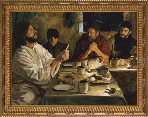 Institution of the Eucharist by Jason Jenicke - Ornate Gold Framed Art