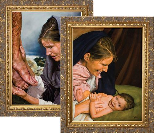 Passion of Mary (Set of 2) by Jason Jenicke - Ornate Gold Framed Arts