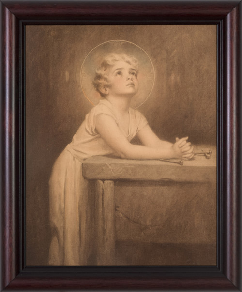 Antique Christ Child (With Nails) Framed Art