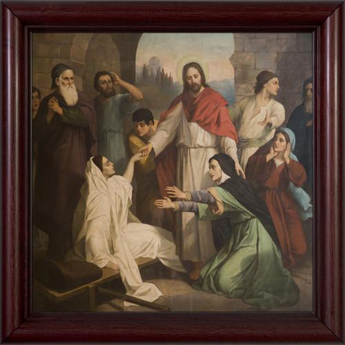 Jesus Healing the Daughter of Jairus Framed Art