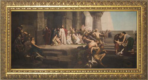 Jesus Preaching Framed Art