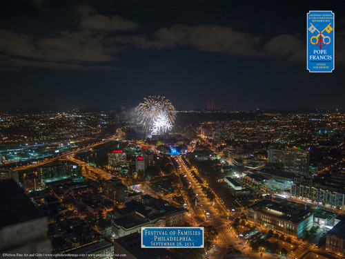 Festival of Families Fireworks Aerial Commemorative Print