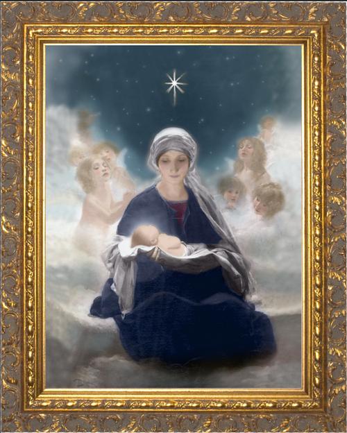 Star of Bethlehem by Bruno Piglhein Ornate Gold Framed Art