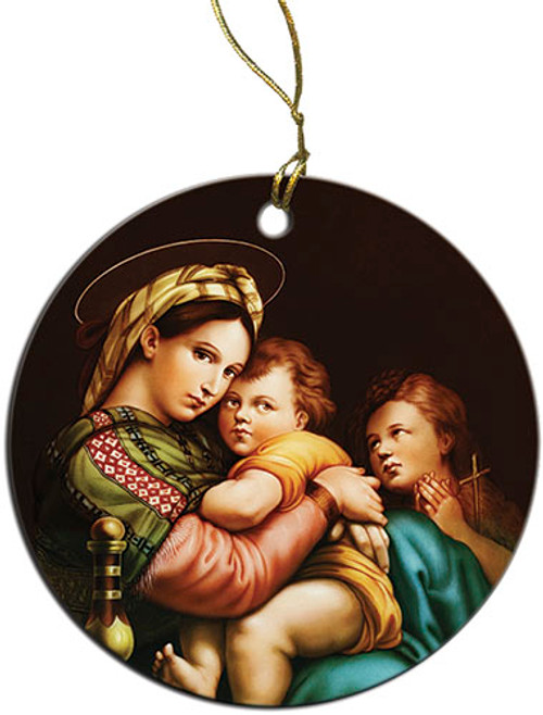Madonna of the Chair Ornament