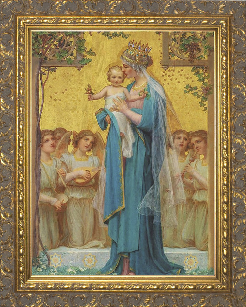 Madonna and Child by Enric M. Vidal Ornate Gold Framed Art