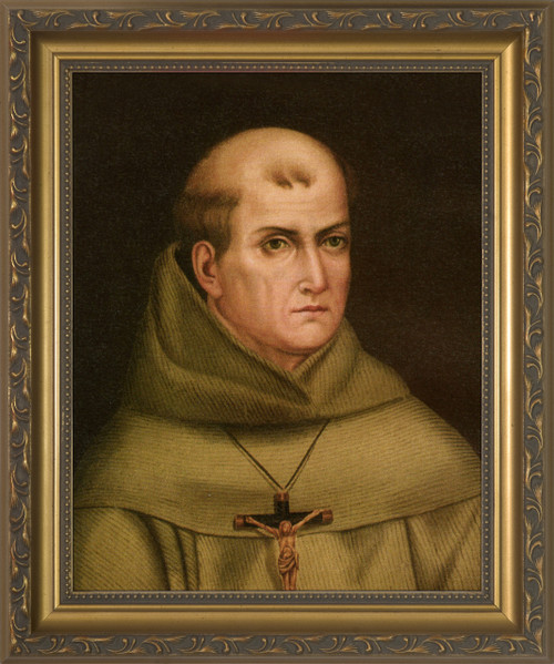 St. Junipero Serra Gold Framed Art