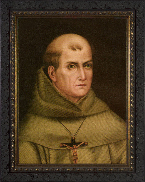 St. Junipero Serra Ornate Dark Framed Art