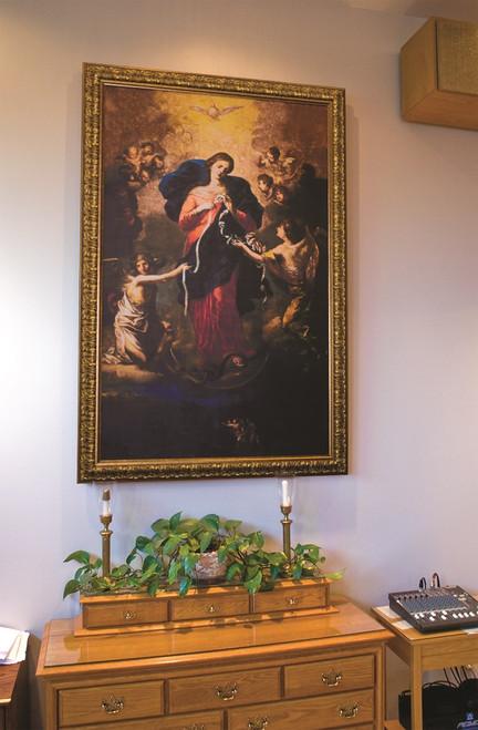 Church-Sized Mary Undoer of Knots Framed Canvas