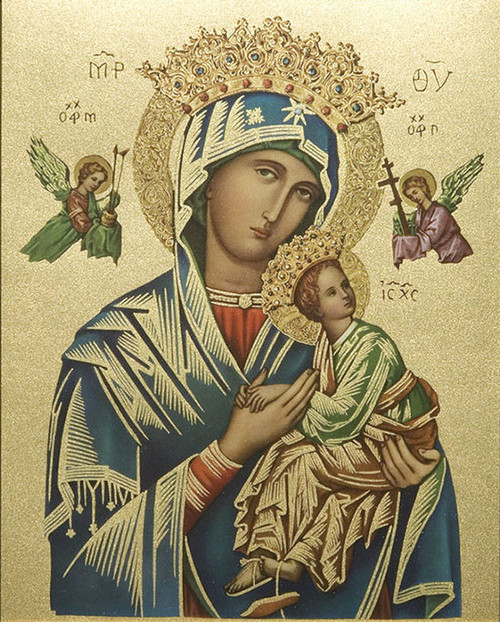 Our Lady of Perpetual Help Print (Gold)