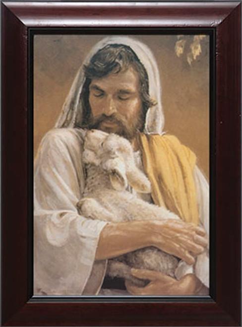 The Good Shepherd - Cherry Framed Art