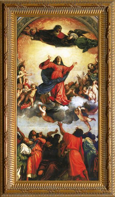 Assumption of the Virgin by Titian - Ornate Gold Framed Art