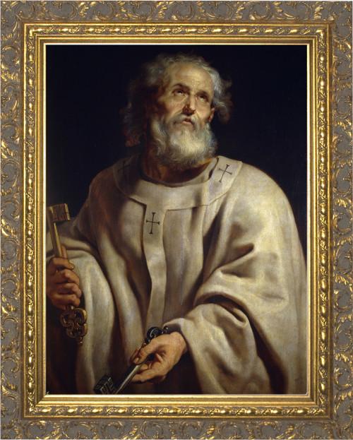 Pope Peter - Ornate Gold Framed Art