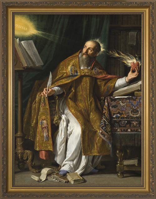 St. Augustine - Gold Framed Art