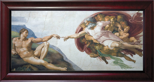Creation of Adam by Michelangelo Framed Art