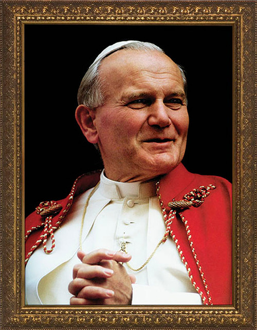Saint John Paul the Great Portrait Framed Art