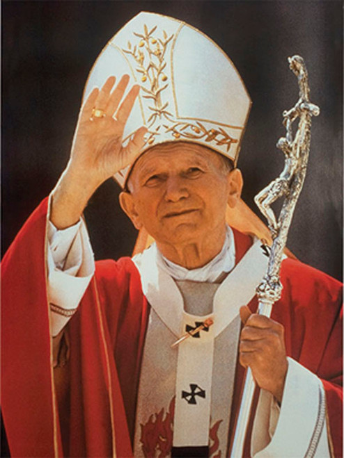 Saint John Paul the Great Waving Poster