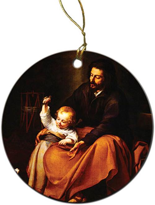 St. Joseph and Jesus Ornament