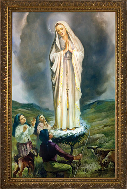 Our Lady of Fatima with Children Framed Art