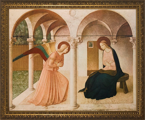 Annunciation by Bl. Fra Angelico Framed Art