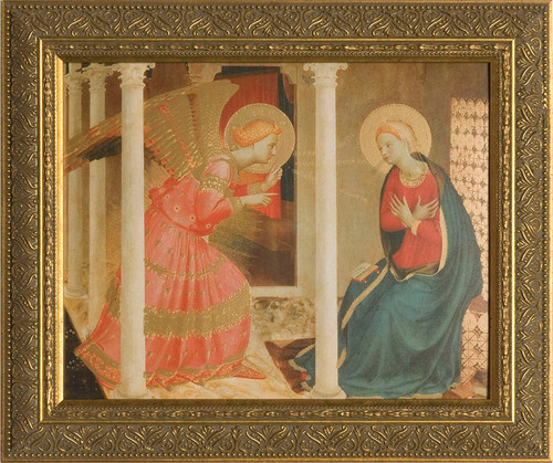 Annunciation by Bl. Fra Angelico Framed Art (2)