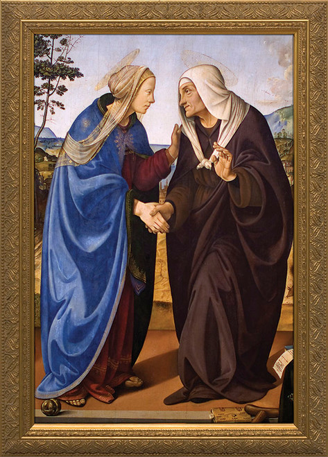 Visitation of Mary and Elizabeth Framed Art