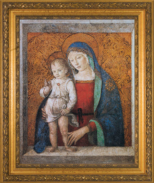 Madonna and Child Gold Framed Art