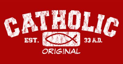 Catholic Original (red) Vinyl Bumper Sticker