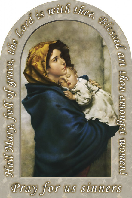 Madonna of the Streets Prayer Arched Magnet