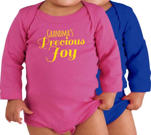 Grandma's Precious Joy Long-Sleeve Baby Onesie
