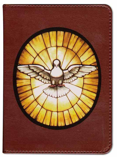 Personalized Catholic Bible with Holy Spirit Cover - Burgundy RSVCE