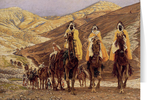 Journey of the Magi by James Tissot Christmas Cards  (25 Cards)