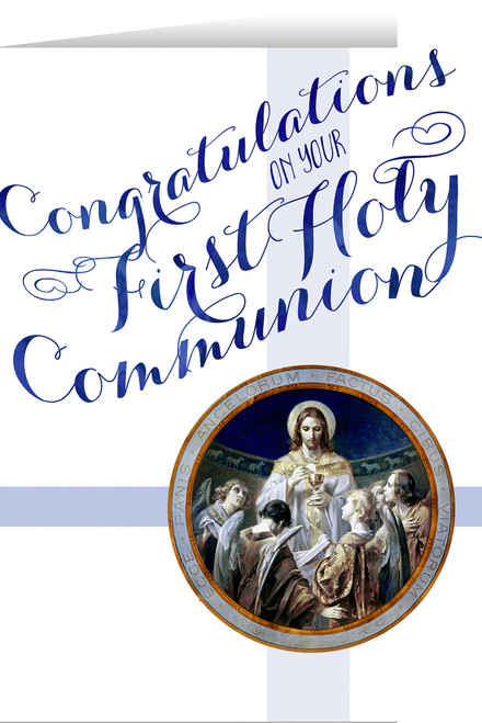 Bread of Angels First Communion Greeting Card II