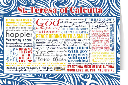 Saint Teresa of Calcutta Quote Card