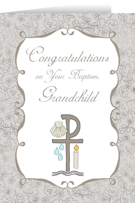 Grandchild's Baptism Greeting Card