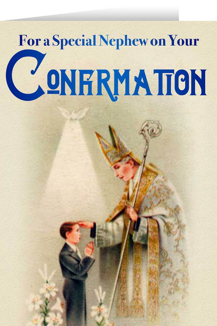 Nephew's Confirmation Greeting Card