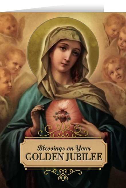 Immaculate Heart Golden Jubilee Greeting Cards