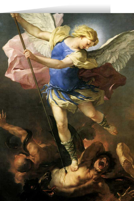 St. Michael the Archangel (Giordano) Greeting Card