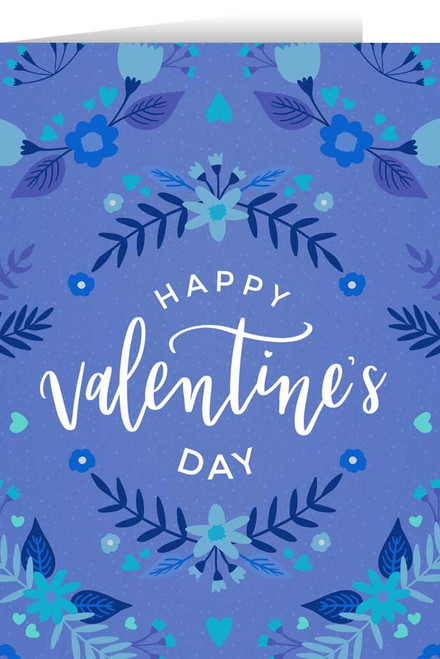 Happy Valentine's Day Blue Valentine's Day Greeting Card
