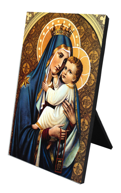 Our Lady of Mt. Carmel Vertical Desk Plaque