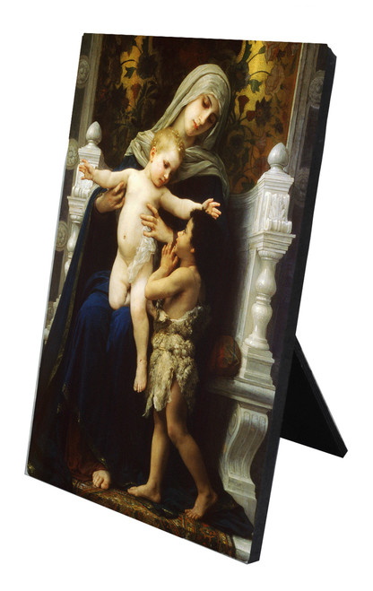 Virgin, Jesus, and St. John the Baptist (Adoring) Vertical Desk Plaque