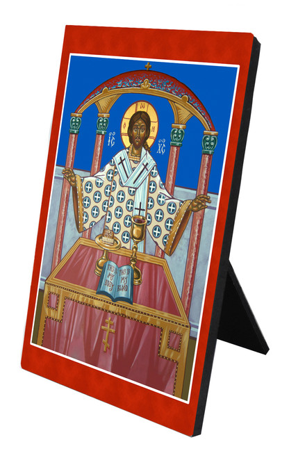 The Holy Eucharist Vertical Desk Plaque